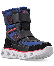Skechers Little Boys' S Lights: Hypno-Flash 2.0 - Street Breeze Light Up Adjustable Strap Boots from Finish Line