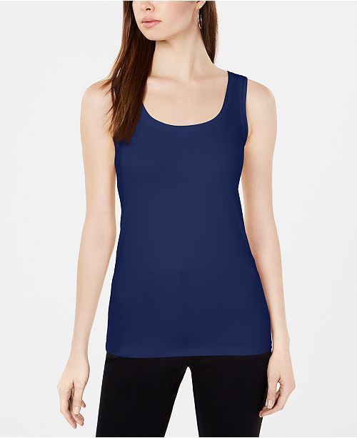 49e2c2d7ee347 ... Alfani Scoop-Neck Basic Tank