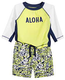 First Impressions Baby Boys 2-Pc. Aloha Rash Guard Set, Created for Macy's