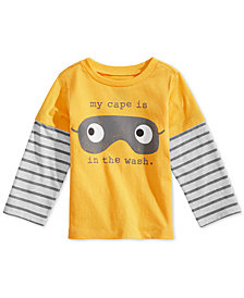 First Impressions Baby Boys Cape in the Wash Graphic Cotton T-Shirt, Created for Macy's