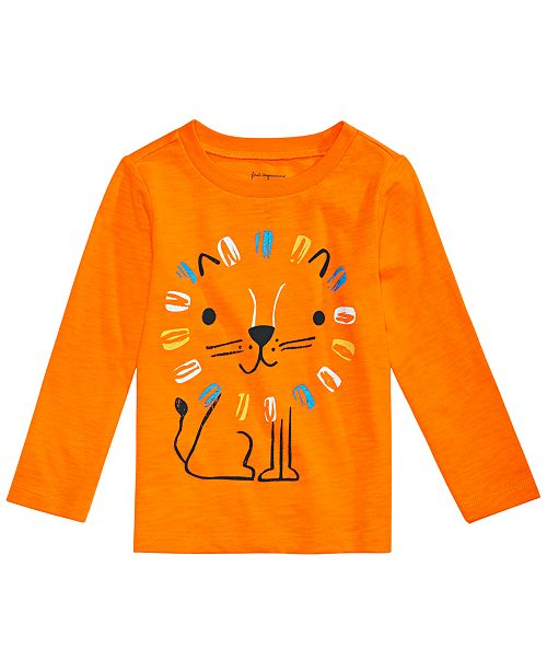 plus de photos f5d61 d5ba1 First Impressions Baby Boys Lion Graphic Cotton T-Shirt ...
