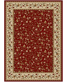 "CLOSEOUT!! Pesaro Floral Red 3'3"" x 4'11"" Area Rug"