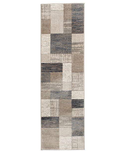 "KM Home Waterside Pier Multi 2'3"" x 7'7"" Runner Area Rug"