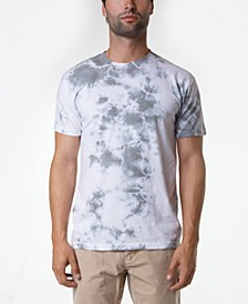 Men's Cloudy Crystal Wash Tie Dye T-Shirt