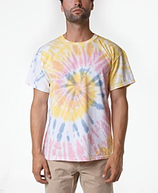 Men's Rainbow Spiral Tie Dye T-Shirt