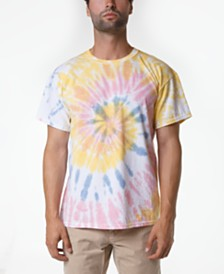 Original Paperbacks Men's Rainbow Spiral Tie Dye T-Shirt