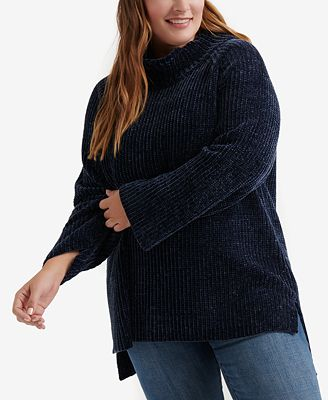 Lucky Brand Trendy Plus Size Chenille Sweater Sweaters Plus