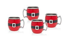 Godinger Set of 4 Mini Mosocow Mule Mugs