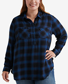 Lucky Brand Plus Size Plaid Tunic