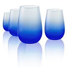 Artland Frost Shadow 16 oz. Stemless Glasses, Set of 4