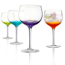 Fizzy Gin Glasses Set of 4