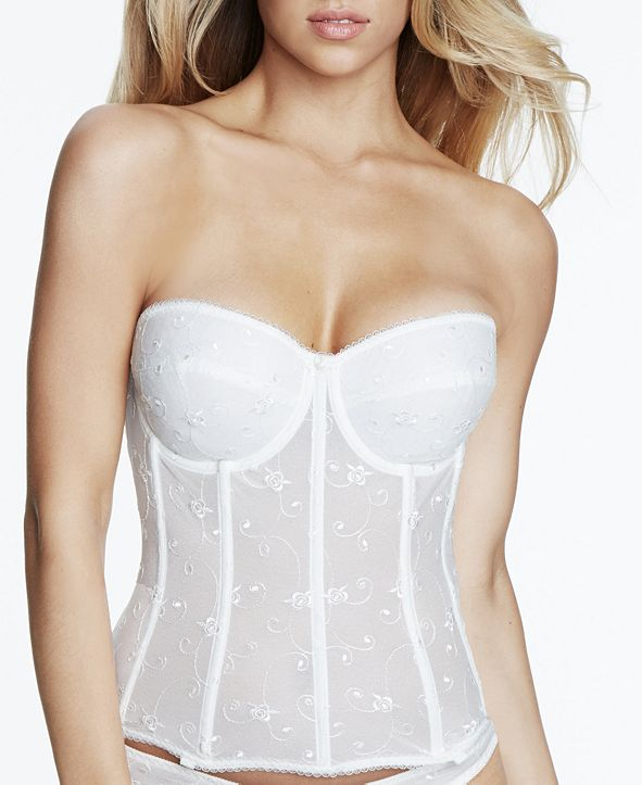 Dominique Rosemarie Embroidered Lace Corset Bustier 8900