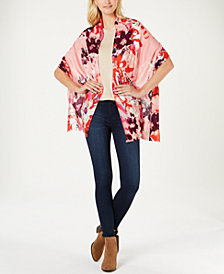 I.N.C. Abstract Floral Super-Soft Wrap, Created for Macy's
