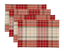 Arlee Holiday Hallmar Placemats, Set of 4