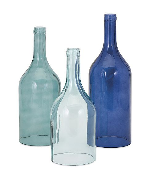 IMAX Monteith Blue Cloche Bottles - Set of 3