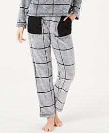 Ande Burnout Check Fleece Pajama Pants