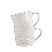 Denby Natural Canvas 2 pc Textured Mug Set