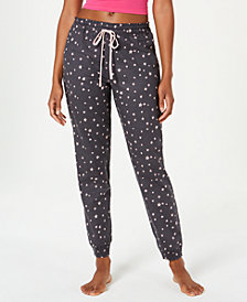 Jenni Printed Cotton Woven Knit Pajama Pants, Created for Macy's