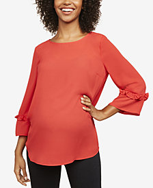 Motherhood Maternity Ruffle-Sleeve Blouse