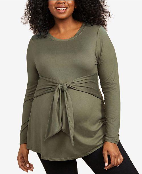 Motherhood Maternity Plus Size Tie-Front Top
