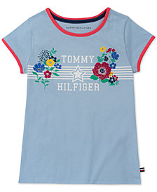 Tommy Hilfiger Big Girls Graphic-Print Cotton T-Shirt