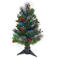 "National Tree 20"" Fiber Optic Crestwood Spruce Tree"