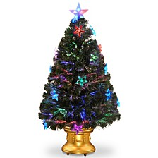 "National Tree 36"" Fiber Optic Fireworks Tree with Star Decorations"
