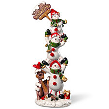 "National Tree 12"" Snowmen Décor Piece"