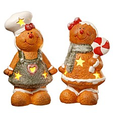 "7"" Terra Cotta Gingerbread Set of Two"
