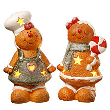 "National Tree Company 7"" Terra Cotta Gingerbread Set of Two"