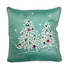 "16"" x 16"" Cushion with Tree Design"