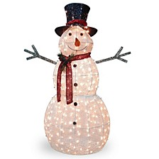 "60"" Snowman Decoration with Warm White LED Lights"