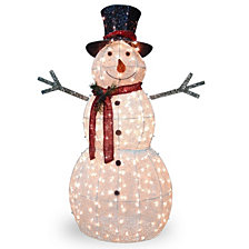 "National Tree Company 60"" Snowman Decoration with Warm White LED Lights"