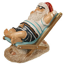 "National Tree 5"" Polyresin Beach Theme Santa"