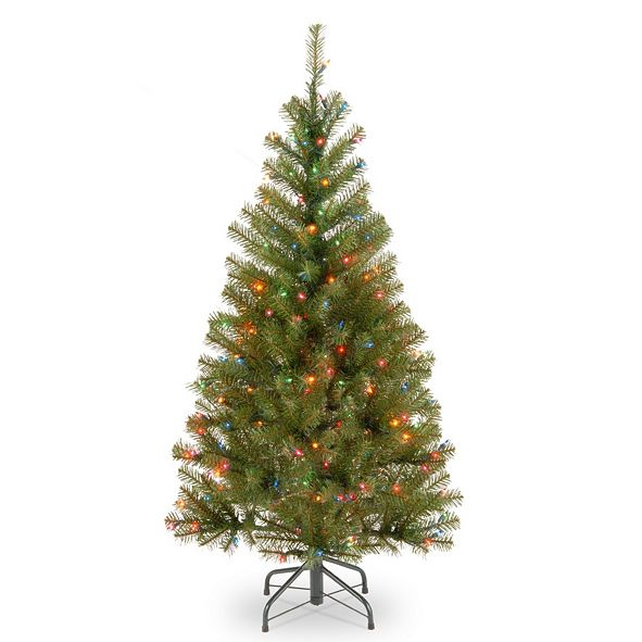 National Tree Company National Tree 4' Spruce Tree with 100 Multicolor Lights