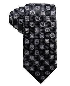 Tasso Elba Men's Octagon Medallion Silk Tie, Created for Macy's
