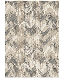 "Palmetto Living Carolina Wild Distressed Chevron Natural 3'11"" x 5'5"" Area Rug"