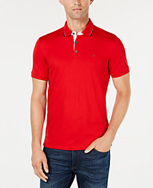 Calvin Klein Men's Tipped Rib Slim-Fit Polo