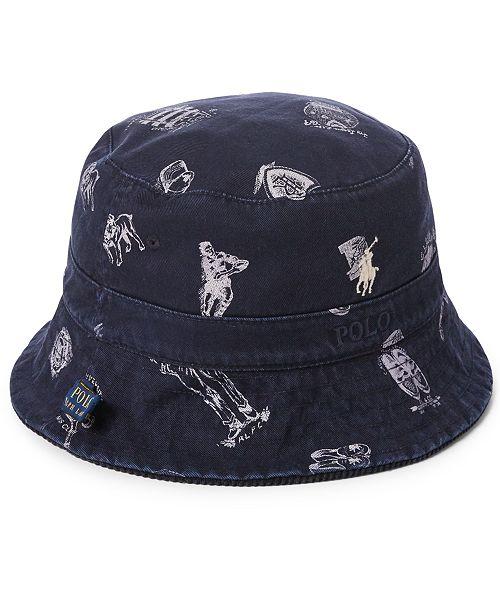 e9a3425b4c1 Polo Ralph Lauren Men s Reversible Chino Bucket Hat  Polo Ralph Lauren  Men s Reversible Chino Bucket ...