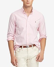 Men's Classic Fit Striped Oxford Shirt