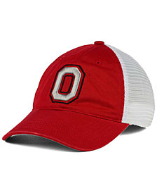 J America Ohio State Buckeyes Defender Mesh Stretch Fitted Cap