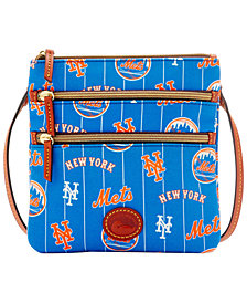 Dooney & Bourke New York Mets Nylon Triple Zip Crossbody