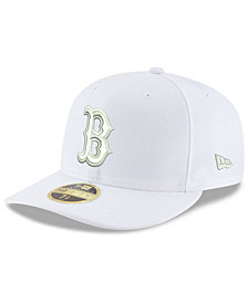 New Era Boston Red Sox Triple White Low Profile 59FIFTY Fitted Cap