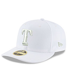 New Era Texas Rangers Triple White Low Profile 59FIFTY Fitted Cap