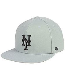 '47 Brand New York Mets Gray Snapback Cap