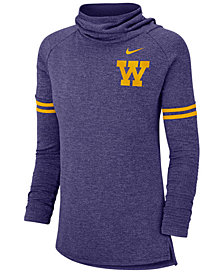 Nike Women's Washington Huskies Funnel Neck Long Sleeve T-Shirt