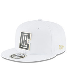 New Era Los Angeles Clippers White Enamel 9FIFTY Snapback Cap