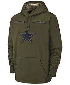 Nike Men's Dallas Cowboys Salute To Service Therma Hoodie
