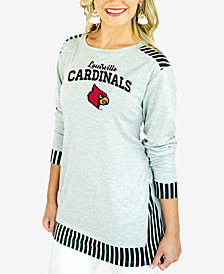 Gameday Couture Women's Louisville Cardinals Striped Panel Long Sleeve T-Shirt
