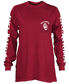 Pressbox Women's Oklahoma Sooners Long Sleeve Pocket T-Shirt
